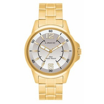 Relógio Lince Dourado (orient) Masculino Mrg4040s Prova
