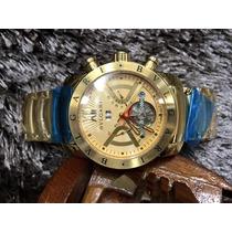 Relógio Bulgari Automático Dourado Em Aço Inox Homem De Ferr
