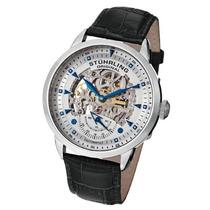Relógio Stuhrling Original Couro Fundo Branco Automático