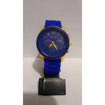 Lindo Relógio Feminino Michael Kors - Azul E Dourado