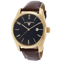 Swiss Legend Península Brown Genuine Dial Jacaré Preto