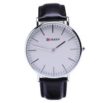 Relógio Curren Analógico 8209g Preto E Branco