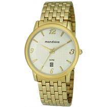 Relógio Mondaine Feminino Dourado 94496lpmtde2 Calendário