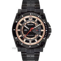 Relógio De Luxo Bulova Precisionist Champlain 98b143 Chronog