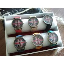 Promoção - Kit Com 6 Relógios Vintage - Bandeira E Guitarra