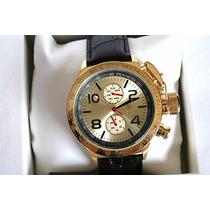 Relógio Alemão Königswerk - Licinius Gold C/ Couro Novo