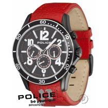 Relógio Police Theory Preto E Vermelho Pl12738jsbs/02b