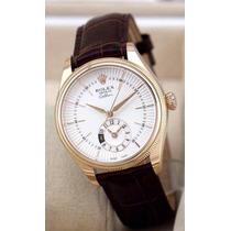 Relógio Dourado Fundo Branco Cellini Date Sedex Grátis