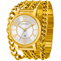 Relógio Lince Feminino Chaim Bands Lrg4241l Prova Dágua