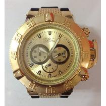 Relógio Invicta Subaqua Noma 3 Iii Gold Pulseira De Borracha