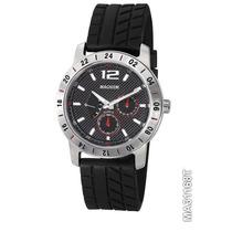 Relógio De Pulso Magnum, Cronos, Pulseira Borracha Ma31168t