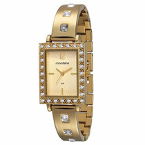 Relógio Mondaine Feminino Clássico Dourado 94584lpmndm1