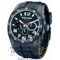 Relógio Police - 12087jsb/02 - Topgear Black- Rubber Strap