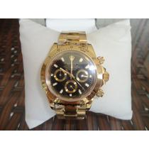 Relógio Modelo Daytona Rolex Dourado Dial Dourado Frete Grat