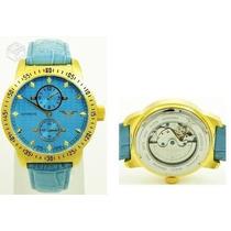 Relógio Alemão,banhado A Ouro Minoir Sapolis,automático,novo