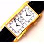 Relógio Antigo Hamilton Dual Time Plaquê Em Ouro