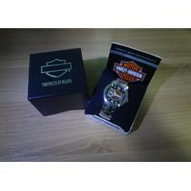 Relogio Original Bulova Harley Davidson Pulseira De Metal