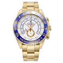Relógio Yacht Master Il Oyster Perpetual Branco Frete Grátis