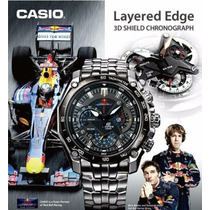 Relógio Casio Edifice Red Bull Ef-550 Na Caixa