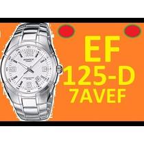 Relógio Casio Edifice Original 100m Bat.10 Anos Ef-125d-7av