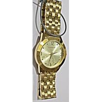 Relógio Lince Dourado Feminino (orient) Lrg4300l Prova Dágua