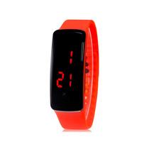 Relógio Digital Led Com Calendário Unissex (vermelho)