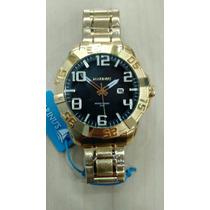 Relógio Original Atlantis Marinus Aço Dourado Estilo Technos