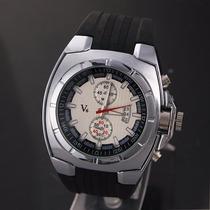 Relógio Esportivo Estilo Borracha - V6 Branco - Frete Gratis