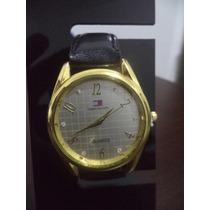 Relógio Feminino Tommy Coroa Dourada E Visor Claro Strass