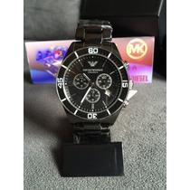 Relógio Emporio Armani Ar1421 Cerâmica Preta 100% Original