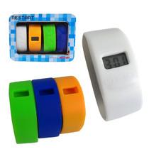 Relógio Infantil Kit Pulseiras Silicone Coloridas Color Teen