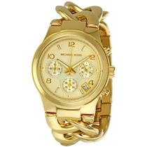 Relógio Mk 3131 Dourado - Garantia 01 Ano.