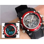 Relogio Pulso Ohsen Sport Black Watch Digital E Analógico