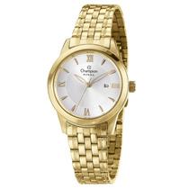 Relógio Feminino Champion Dourado Com Calendário Cs28218h