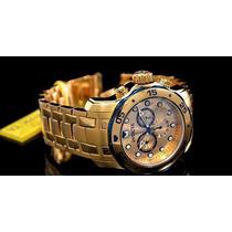 Relógio Invicta Masculino Importado Dourado Original