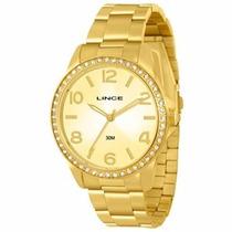 Relógio Lince Dourado Feminino (orient) Lrgj028l Prova Dágua