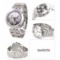 Relógio Swatch Chrono Full Blooded Silver Svck4038g