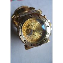 Relógio De Luxo Invicta Coalition Forces Dourado Masculino