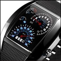 Relógio De Pulso Luz Azul Aviação Velocímetro Analógico