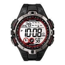 Relógio Masculino Timex Marathon T5k423ww/tn Preto/ Vermelho