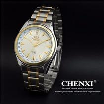 Relogio Masculino Quartzo Chenxi Luxo Inoxidavel White/silve