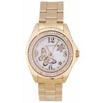 Relógio Lince Dourado Feminino (orient) Lrg4259l Prova Dágua