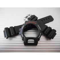 Kit Capa Bezel E Pulseira Dw-6900 G-shock Illuminator Prata