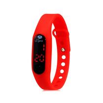 Relógio Led Digital Touch Screen (vermelho)