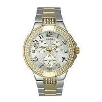 Relógio Guess Prism Modelo U14007l1 Prateado / Dourado