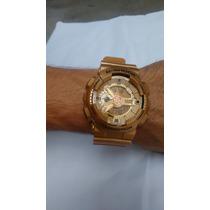 Relógio G Shock Dourado Com Detalhes Preto
