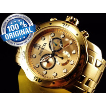 Relogio Invicta Masculino 0074 Original Pro Diver Ouro