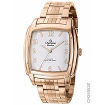 Relógio Feminino Dourado Rosé Champion Ch24553z Original
