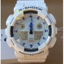 Relógio Casio G-shock Ga-100a Branco Ga-100 - Leia Anúncio