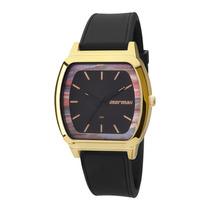 Relógio Mormaii Feminino Quadrado Dourado Mo2036ac/8p